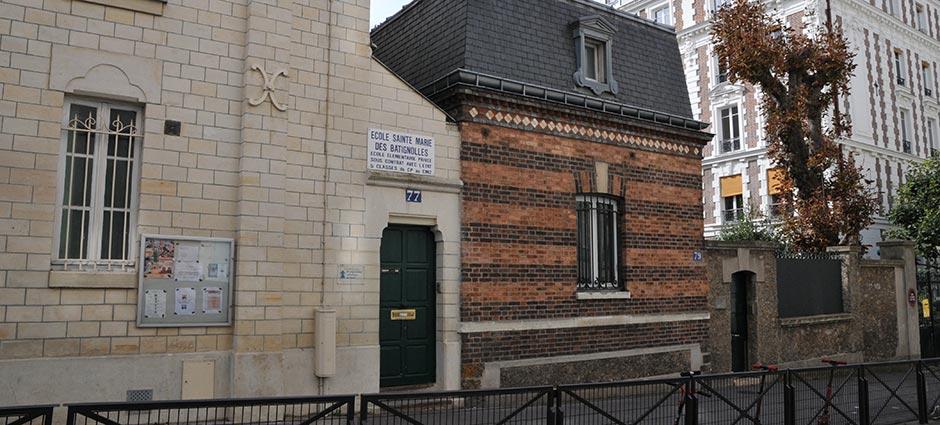75017 - Paris 17 - Ecole Primaire Sainte Marie des Batignolles - Ensemble Batignolles Epinettes