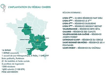 organismes Maisons de retraite - Régional - Personnes Agées - 69300 - Caluire-et-Cuire - Réseau Oméris